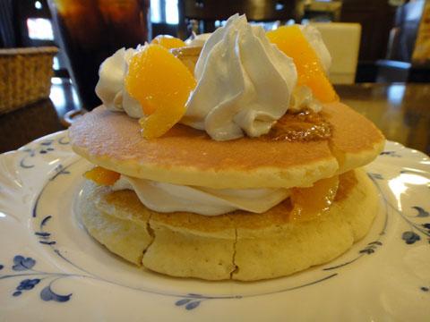 プリンアラモードホットケーキ
